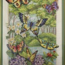 Бабочки. Панно. Вышивка крестом. Работа Нины Казниной. Фото Татьяны Шепелевой