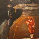 Валерий Багаев. Ночной дозор. Фрагмент. Холст, масло. 2016. Фото Татьяны Шепелев