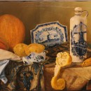 Валерий Багаев. Осенний натюрморт. Дерево (кедр), масло. 2015. Фото Татьяны Шепе