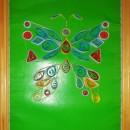 Бабочка. Работа Хайтаровой В.С. в технике квиллинга