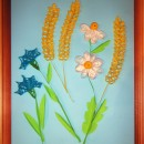 Цветы и колоски. Работа Хайтаровой В.С. в технике квиллинга