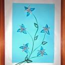 Нежные цветы. Работа Хайтаровой В.С. в технике квиллинга