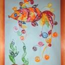 Золотая рыбка. Работа Хайтаровой В.С. в технике квиллинга