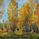 Светлана Волосова. Лес в золотом. Акварель