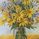 Светлана Волосова. Желтые цветы. Акварель