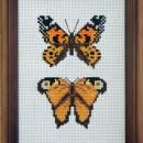 Бабочки. Вышивка крестом. Работа Захаренковой Н.В.