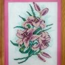Цветы. Вышивка крестом. Работа Захаренковой Н.В.