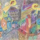 Мальцева Дарья. Иллюстрация к рассказу Ф.М. Достоевского «Мальчик у Христа на ёл
