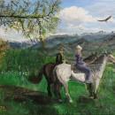 Анастасия Молчанова. Алтай. Прогулка на конях. 2014