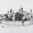 Валерия Кузина. Суздаль. Вид на Покровсий женский монастырь. 2014 год