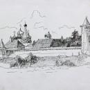 Валерия Кузина. Суздаль. Вид на Спасо-Евфимиевский монастырь. 2014 год