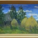 Кувшинова Н.Л. Стожки. ДВП, масло. 2011 г.