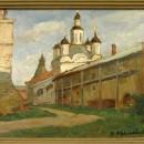 Щелоков В.Г. Вечерний свет. Макарьевский монастырь на Волге. 1994 г.
