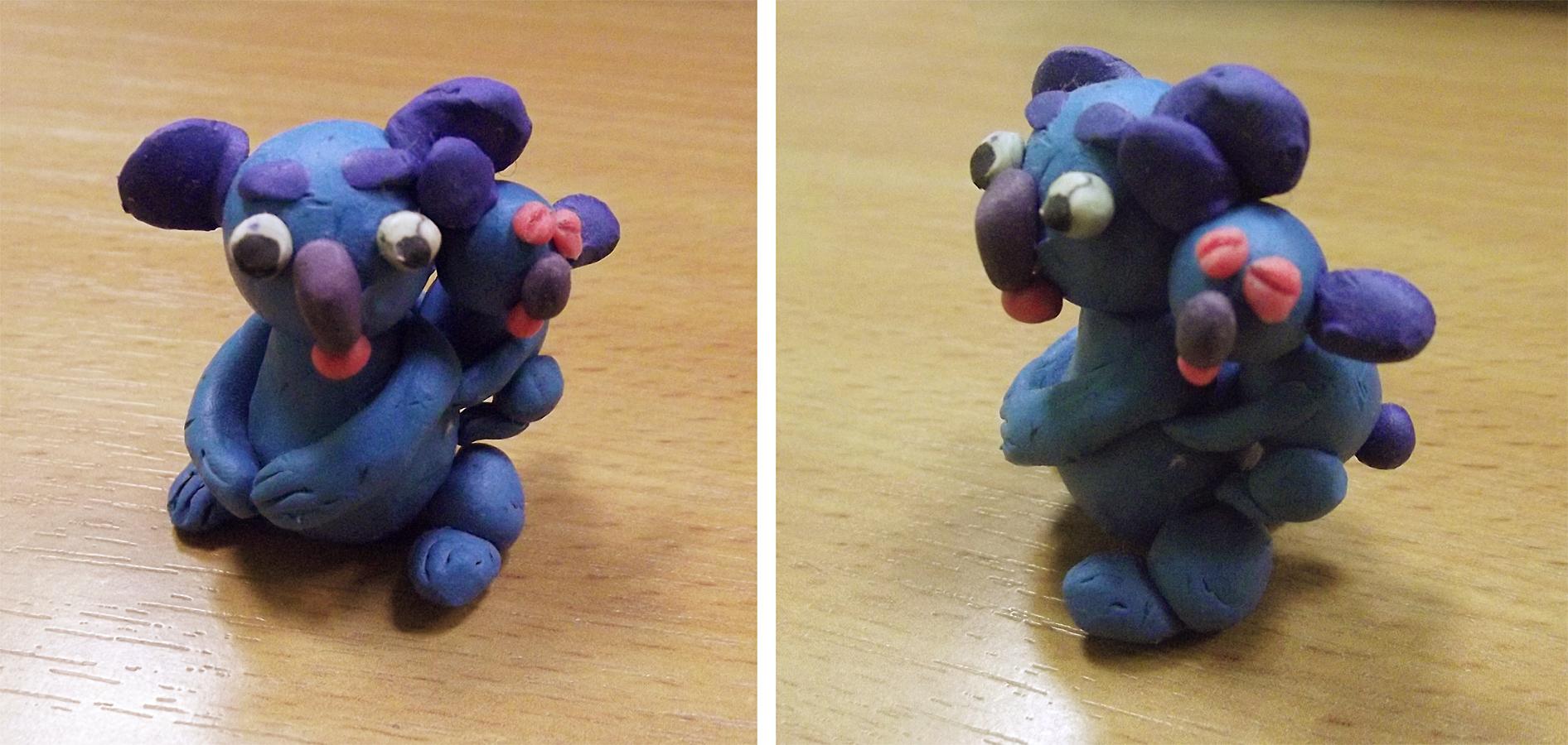 Как сделать из пластилина коалу